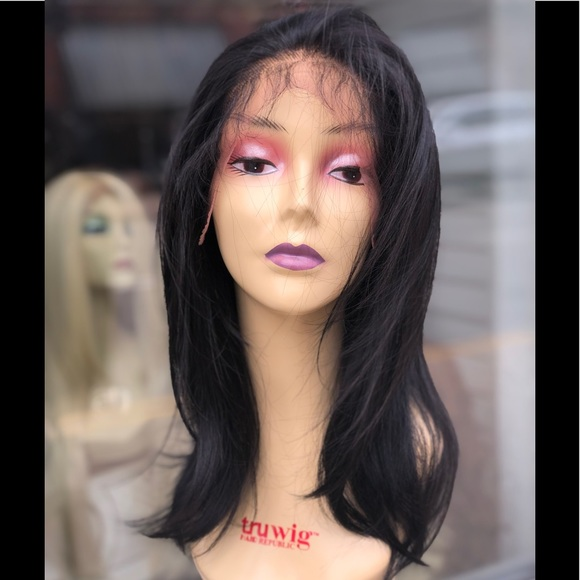 Fulllace Long Bob dark brown wig soft Swisslace Boutique